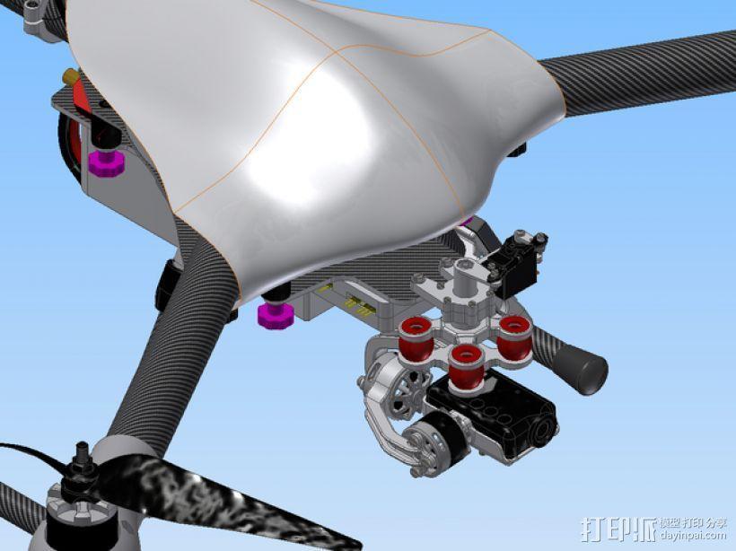 Mobius相机常平架 3D模型  图1