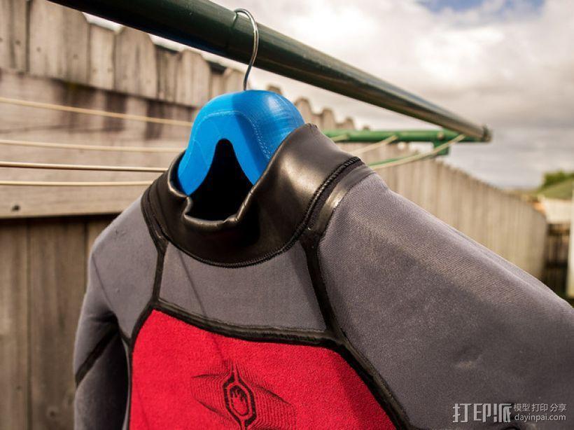 潜水服 衣架 3D模型  图2
