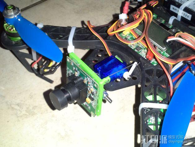 FPV250四轴飞行器 相机支架 3D模型  图1