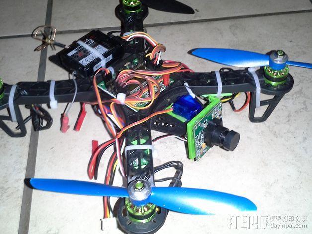 FPV250四轴飞行器 相机支架 3D模型  图3