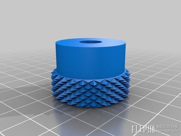 3D打印的滚花螺母 3D模型  图2