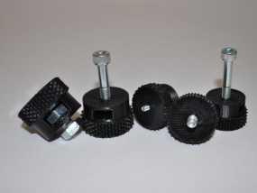 3D打印的滚花螺母 3D模型