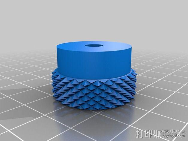 3D打印的滚花螺母 3D模型  图4