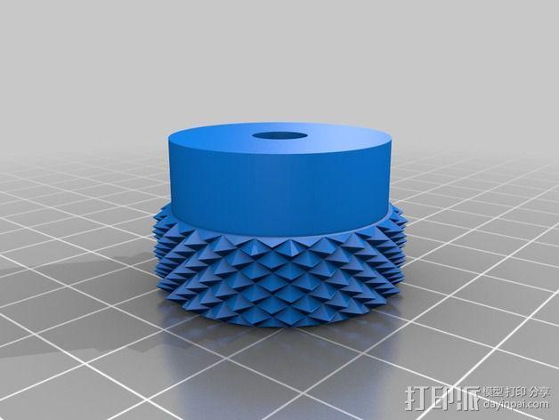 3D打印的滚花螺母 3D模型  图3
