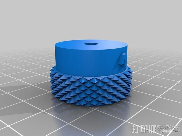 3D打印的滚花螺母 3D模型  图5