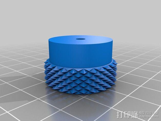 3D打印的滚花螺母 3D模型  图6