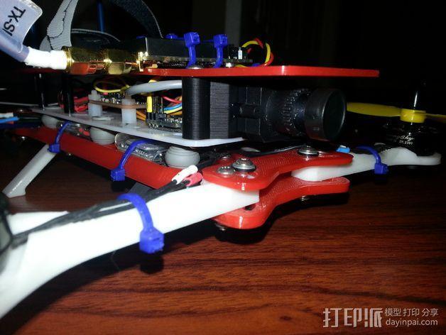 600TVL相机支架 3D模型  图4