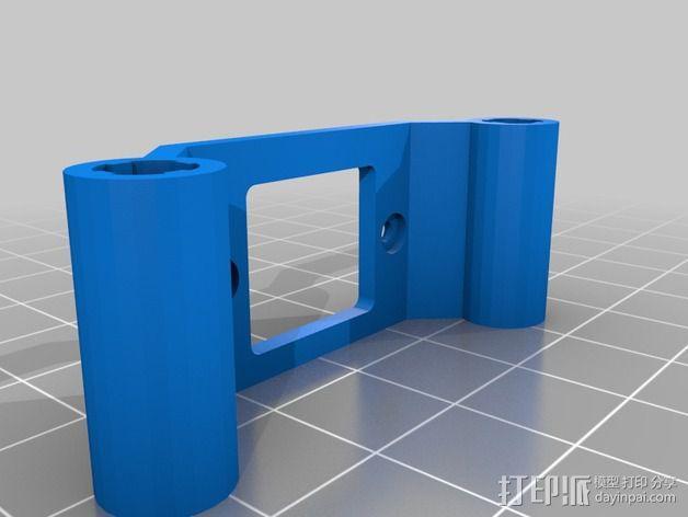 600TVL相机支架 3D模型  图3