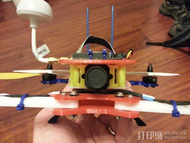 600TVL相机支架 3D模型  图6