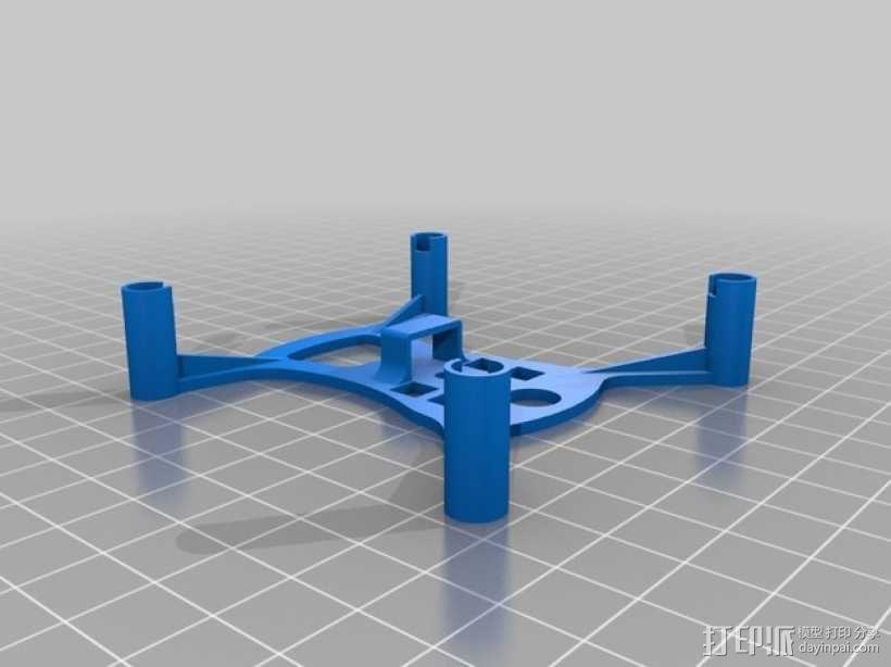 四轴飞行器底座 3D模型  图2