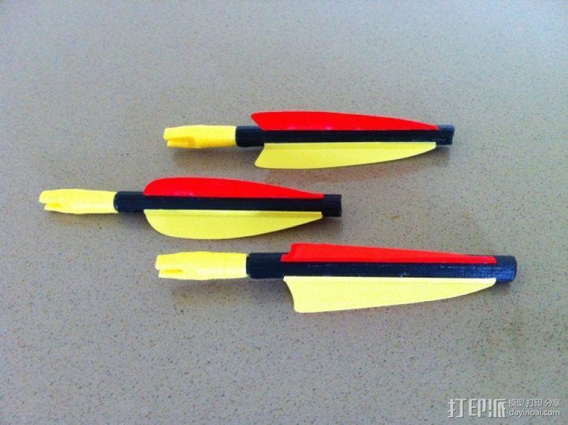 弓箭 尾羽 3D模型  图1