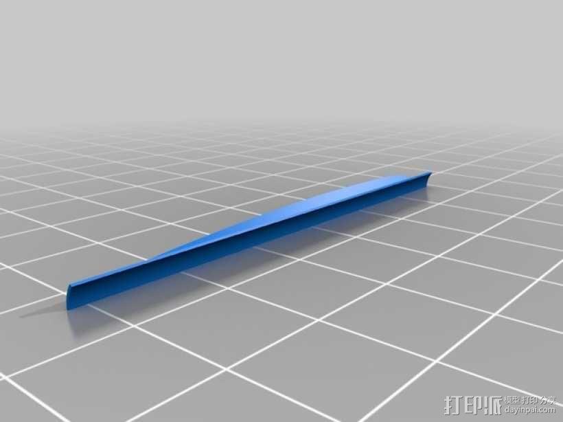 弓箭 尾羽 3D模型  图6