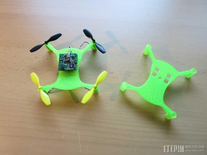 迷你四轴飞行器框架 3D模型  图1