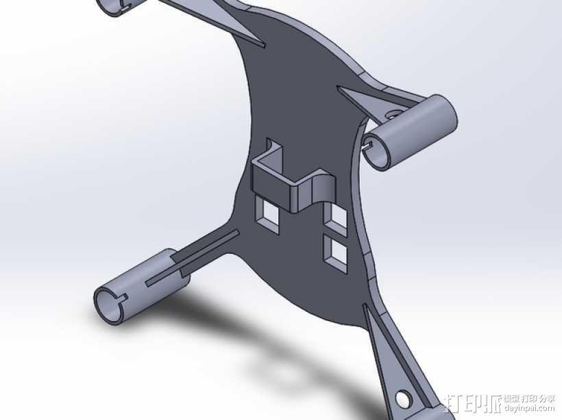 迷你四轴飞行器框架 3D模型  图3