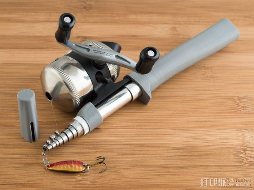 钓鱼杆 3D模型  图1