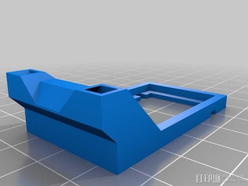 FrSky V8FR-II 接收机V字形天线架 3D模型  图7