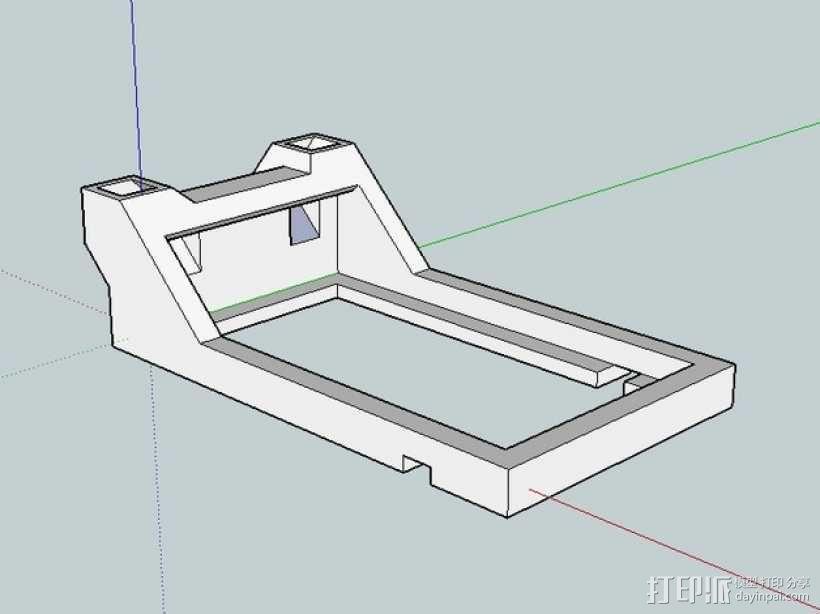 FrSky V8FR-II 接收机V字形天线架 3D模型  图6