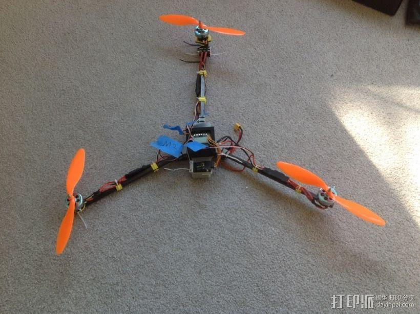 FrSky V8FR-II 接收机V字形天线架 3D模型  图8
