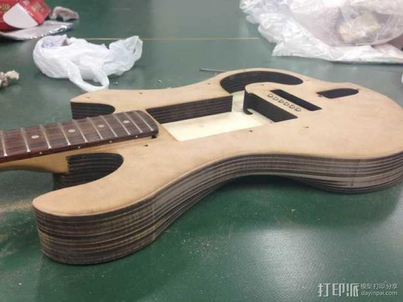 吉他 3D模型  图9