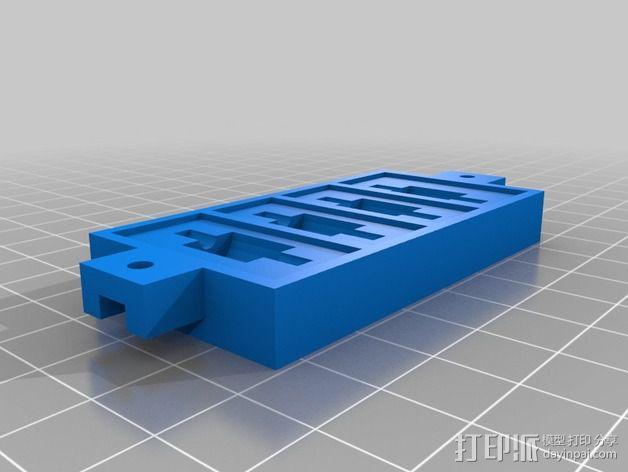 防振硅胶阻尼器 3D模型  图3