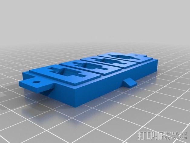 防振硅胶阻尼器 3D模型  图2