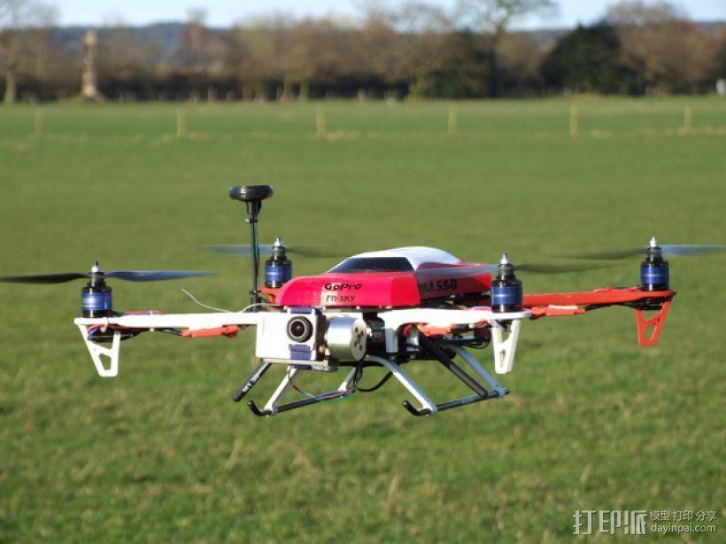 Formula 550 四轴飞行器 3D模型  图3