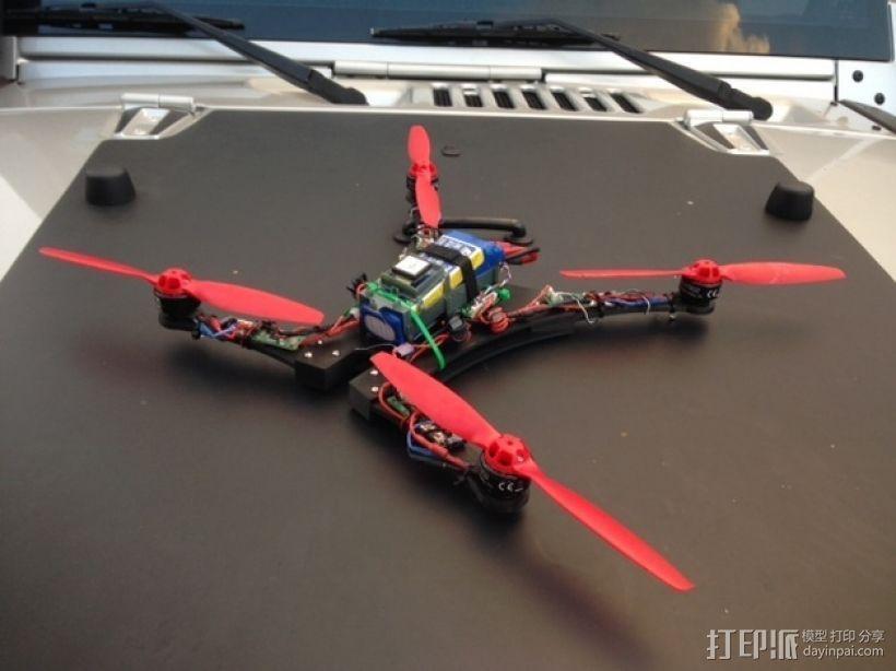Blade 350QX四轴飞行器框架 3D模型  图1