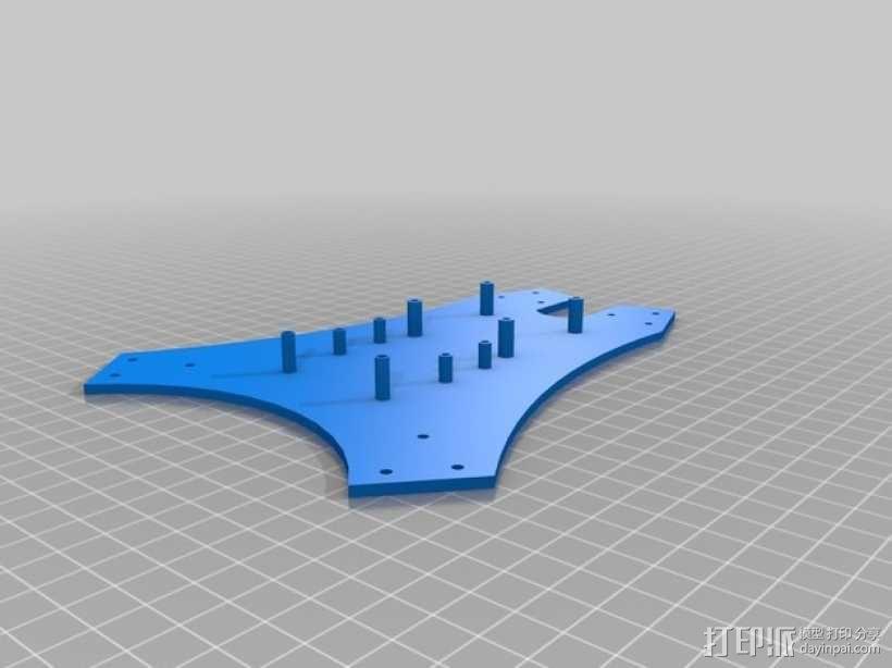 Blade 350QX四轴飞行器框架 3D模型  图6