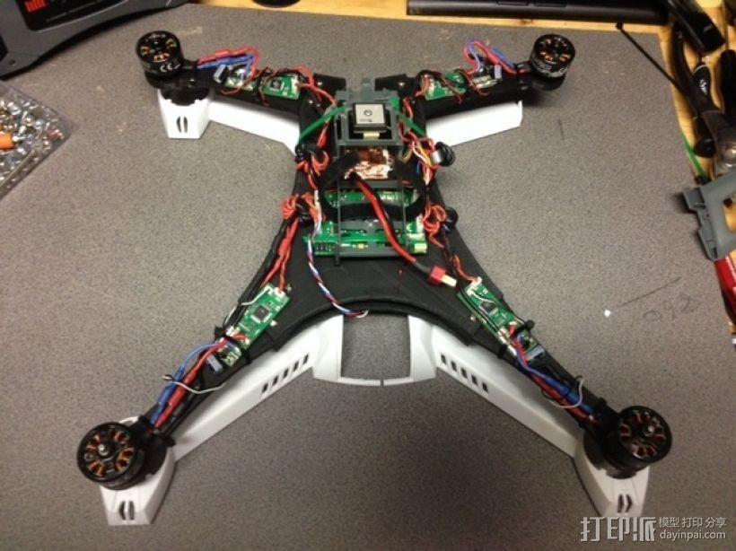 Blade 350QX四轴飞行器框架 3D模型  图10