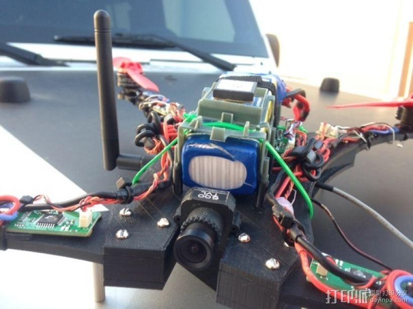Blade 350QX四轴飞行器框架 3D模型  图12