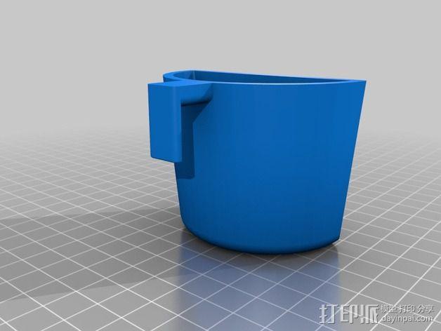 车载硬币筒 3D模型  图3