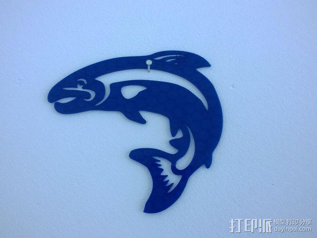 鳟鱼 3D模型  图1