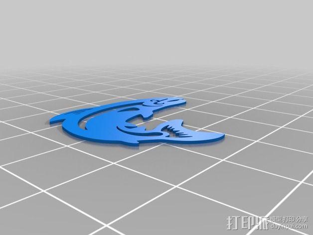 鳟鱼 3D模型  图3
