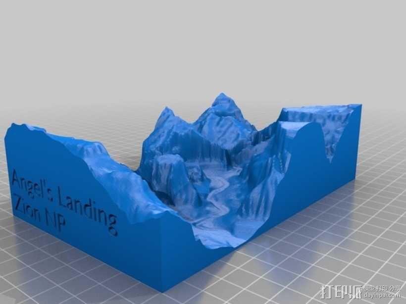 峡谷国家公园地形图 3D模型  图1