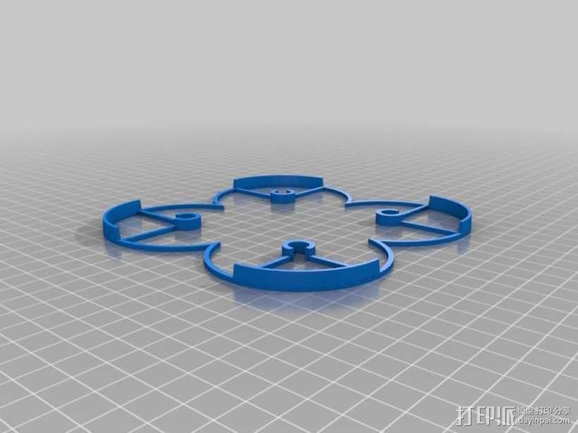 Hubsan X4迷你四轴飞行器 保护架 3D模型  图2
