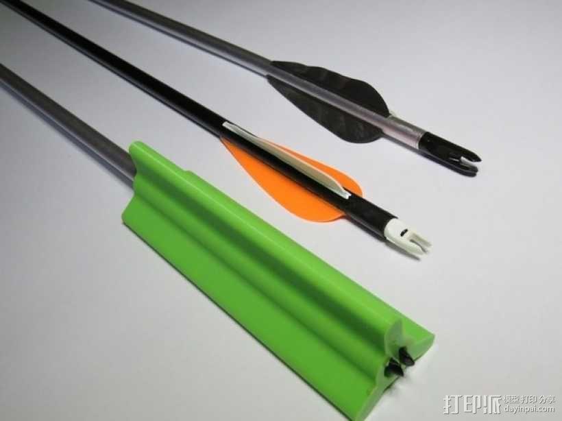 箭羽保护器 3D模型  图1
