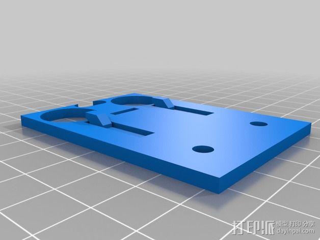 HC-SR04超声传感器 底座 3D模型  图2