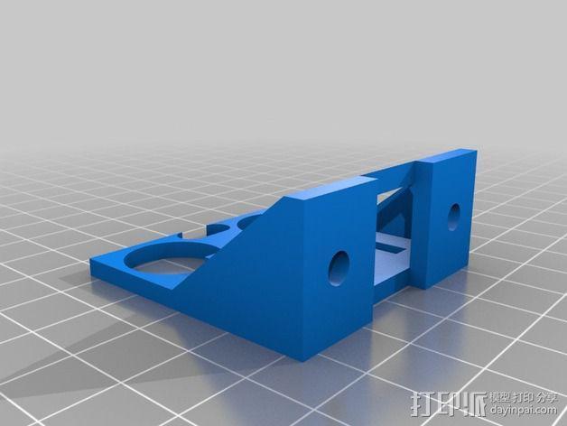 HC-SR04超声传感器 底座 3D模型  图3