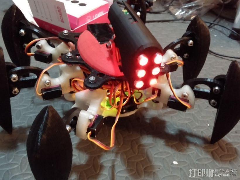 防昆虫机器人Hexapod 3D模型  图1