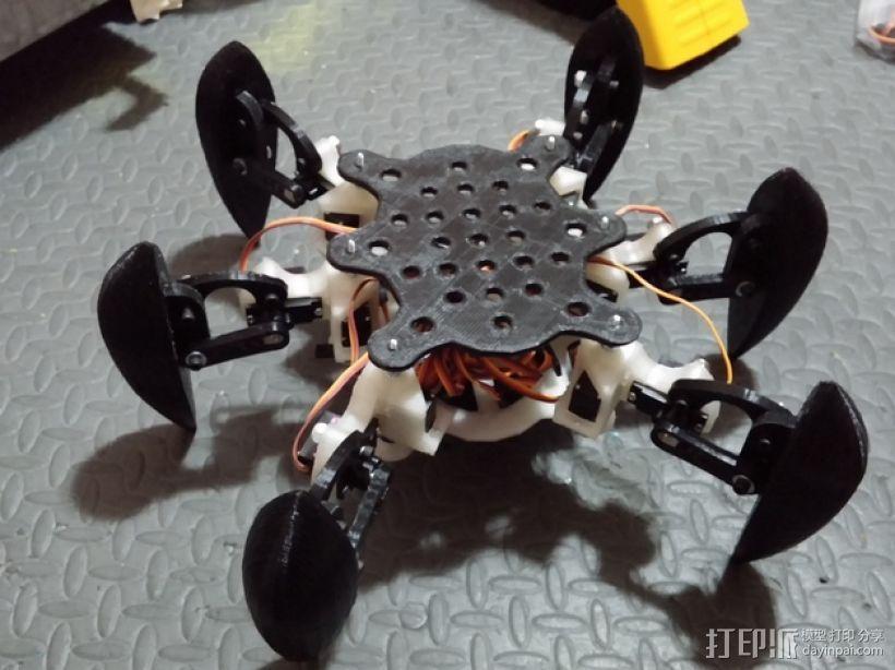防昆虫机器人Hexapod 3D模型  图16
