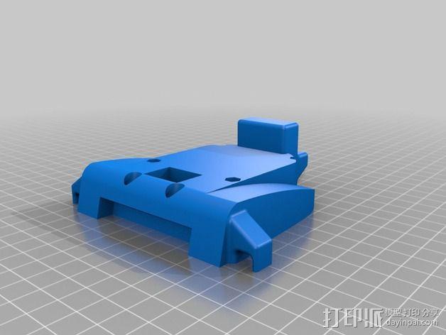 Bixler 2滑翔机FPV支架 3D模型  图4