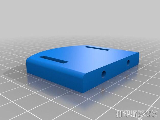 Bixler 2滑翔机FPV支架 3D模型  图5