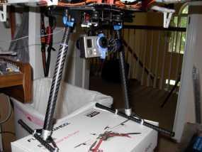 F550多轴飞行器 收放式起落架  3D模型