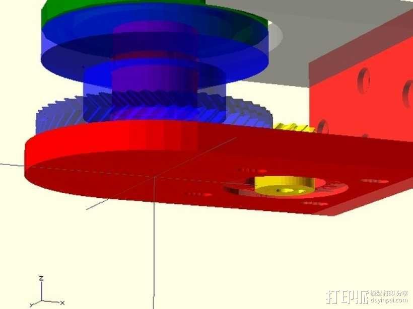 小型绞盘  3D模型  图1