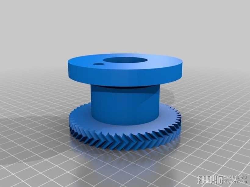 小型绞盘  3D模型  图2