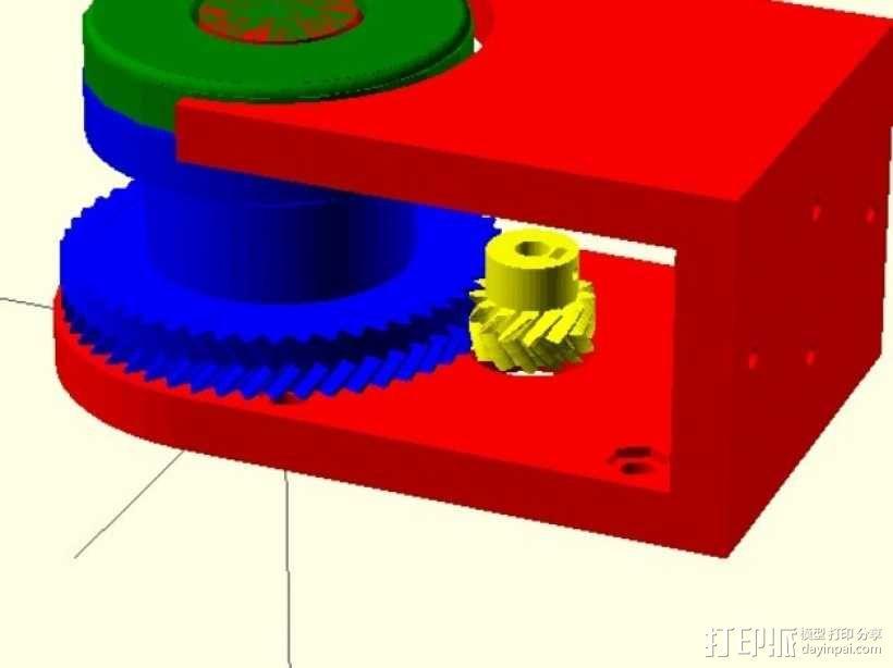 小型绞盘  3D模型  图4