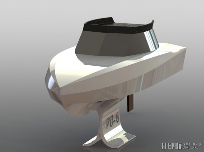 遥控船  3D模型  图1