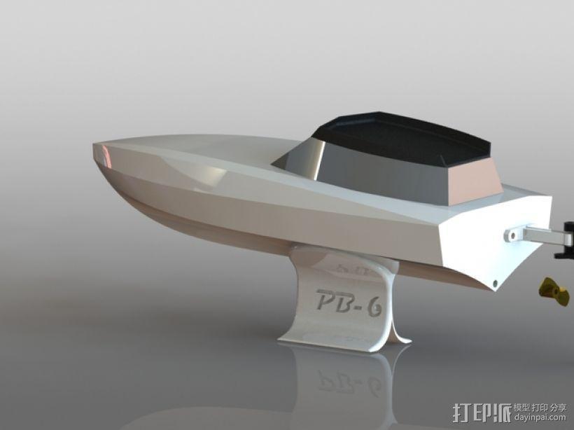 遥控船  3D模型  图2