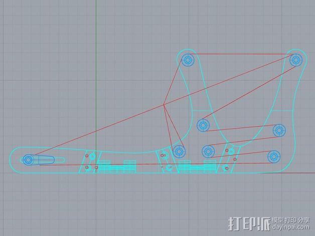 迷你织带机  3D模型  图13
