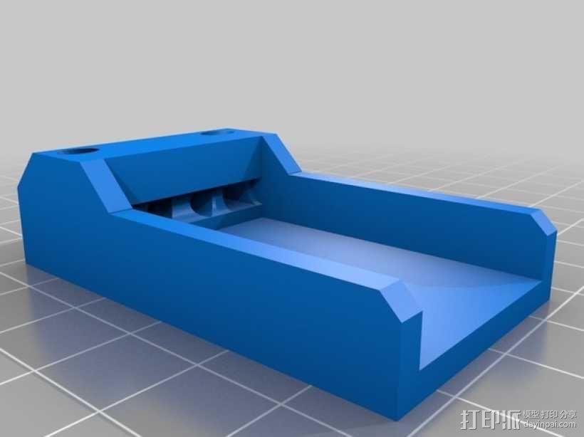 Futaba R6203SB接收机支架 3D模型  图2
